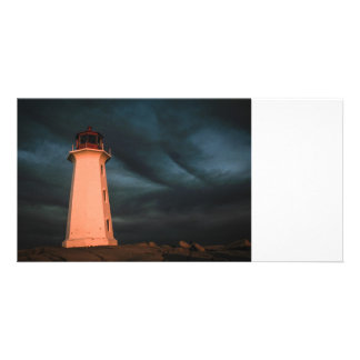Mysterious Night at Peggy's Cove, Nova Scotia, Can Photo Greeting Card