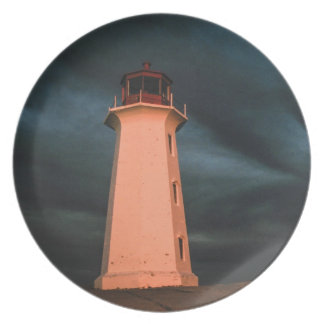 Mysterious Night at Peggy's Cove, Nova Scotia, Can Party Plates