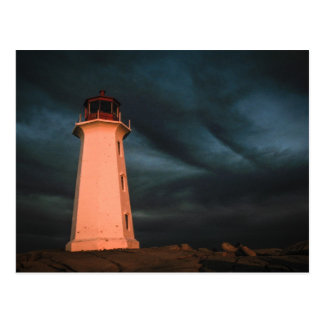 Mysterious Night at Peggy's Cove, Nova Scotia, Can Postcard