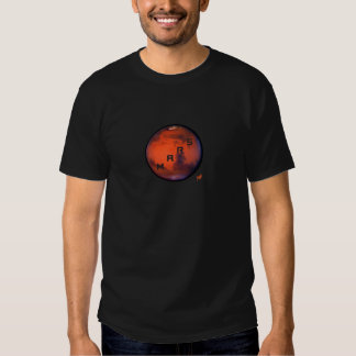 Mysterious Planet T-Shirt -- Mars - Design On Back