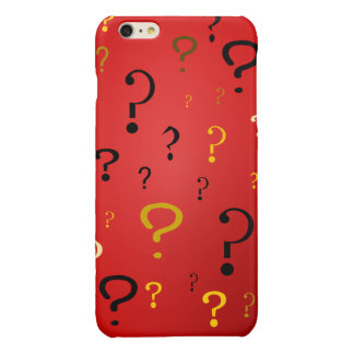 Mysterious Question Marks Glossy iPhone 6 Plus Case