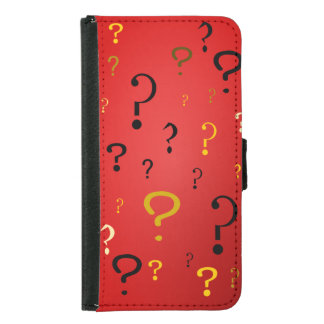Mysterious Question Marks Wallet Phone Case For Samsung Galaxy S5
