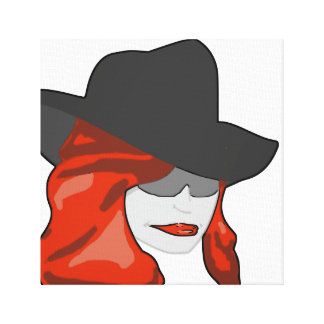 Mysterious Redhead Canvas Prints