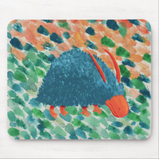 Mysterious shrub-monster mouse pad