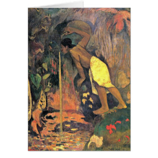 Mysterious Source By Eugene Henri Paul Gauguin Greeting Card