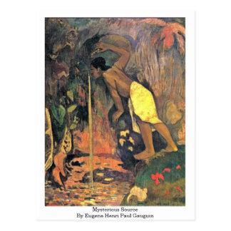 Mysterious Source By Eugene Henri Paul Gauguin Postcard