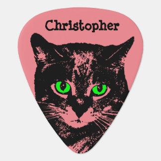 Mysterious Transparent Black Cat Guitar Pick