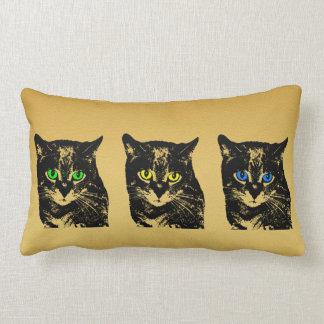 Mysterious Transparent Black Cat Pillow