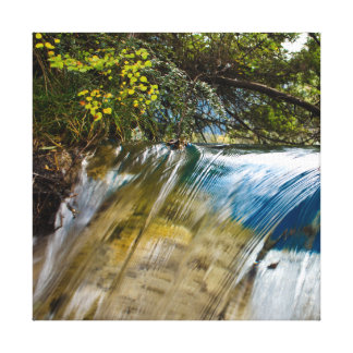 Mysterious transparent waterfall canvas print