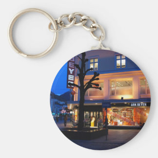 Mysterious tree silhouette keychain