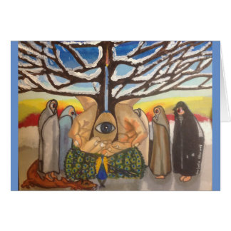 Mysterious watchers at the Tree of Creation Card