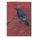 Mysterious Winter Raven Greeting Cards