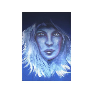 Mysterious Woman Stretched Canvas Prints