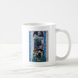 Mysterious Woman Vintage Blue Tie-Dye Coffee Mug