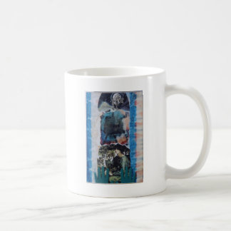 Mysterious Woman Vintage Blue Tie-Dye Mugs