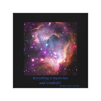 Mysterious, Wonderful Zen Stars on Canvas Stretched Canvas Print