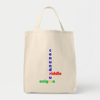 Mysterium mystery riddle enigma conundrum tote bag