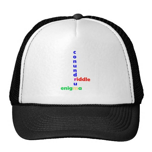 Mysterium mystery riddle enigma conundrum trucker hat