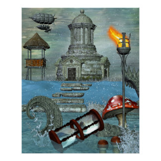 Mystery and Imagination 3D Fantasy DECOR ART Poster