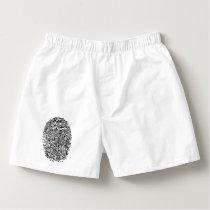 Mystery Black Fingerprint Boxers