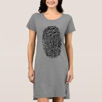 Mystery Black Fingerprint Dress