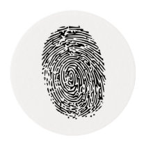 Mystery Black Fingerprint Edible Frosting Rounds