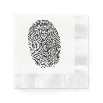 Mystery Black Fingerprint Paper Napkin