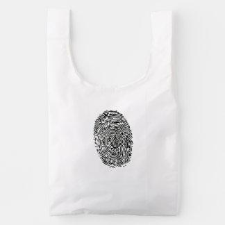 Mystery Black Fingerprint Reusable Bag