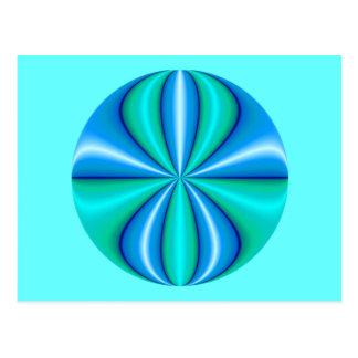 mystery blue circle postcard