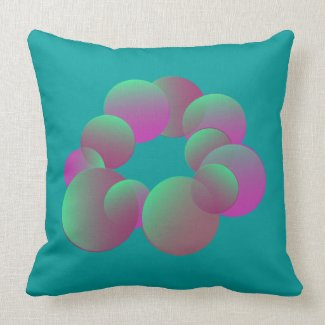 Mystery Bubbles American MoJo Pillow throwpillow
