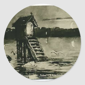 Mystery by Odilon Redon Round Sticker