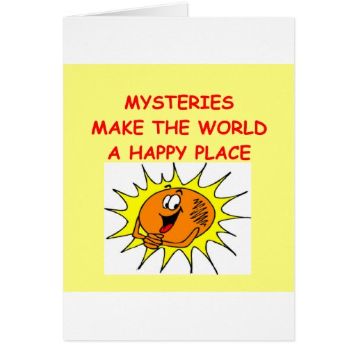 mystery greeting cards
