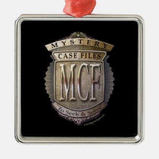 Mystery Case Files Square Metal Christmas Ornament