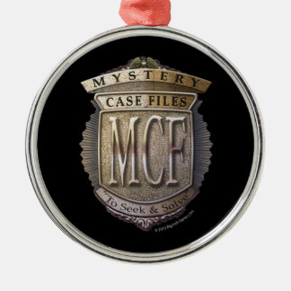 Mystery Case Files Round Metal Christmas Ornament