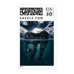Mystery Dinosaur Island Secret Ocean Stamp