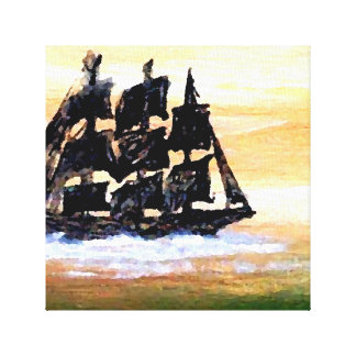 Mystery Eery Ships of the Imagination Art Painting Canvas Print
