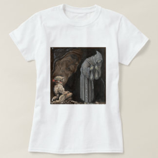 Mystery Figure in Hooded Cloak with Boy T-Shirt