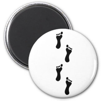 Mystery Footprints 2 Inch Round Magnet