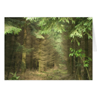 mystery forest greeting card