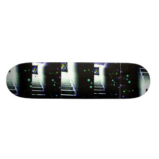 Mystery Galaxy Porch with Distant Sun Skateboard Deck