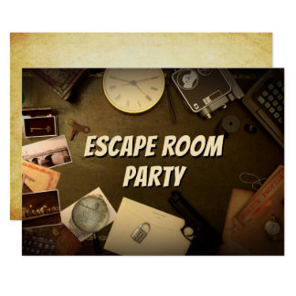 Escape invitations announcements zazzle for Escape room party