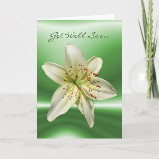 Mystery Lily ~ get well card