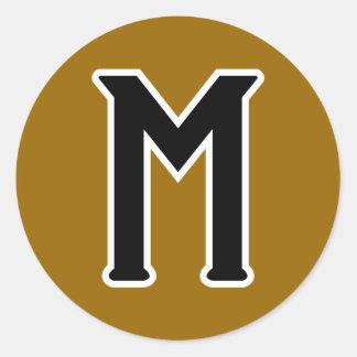 Mystery (logo) classic round sticker