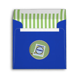 Mystery Magnifying Glass Clues Birthday Party Envelope