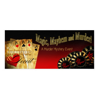 "Mystery METALLIC ICE Las Vegas Deluxe FZ 4"" X 9.25"" Invitation Card"