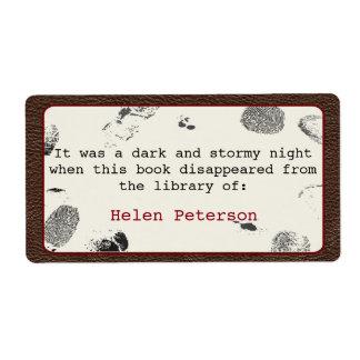 Mystery Novel Book Label