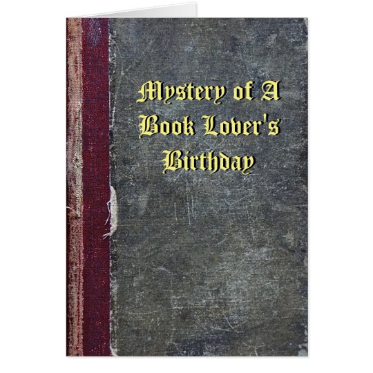 Mystery of a Book Lovers Birthday Card – Birthday Card Book