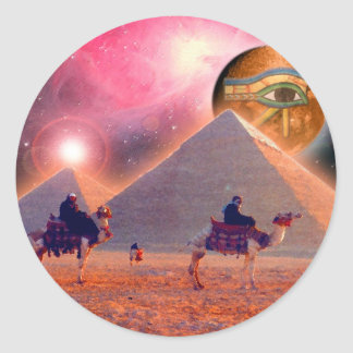 Mystery of the Pyramids Classic Round Sticker