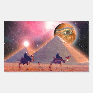 Mystery of the Pyramids Rectangular Sticker