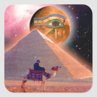 Mystery of the Pyramids Square Sticker